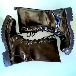 Shoes - Men's 7.5 Shiny Motorcycle Boot